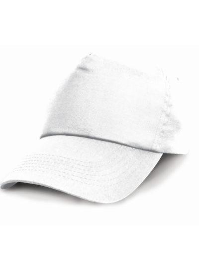 Result Headwear Cotton Cap White