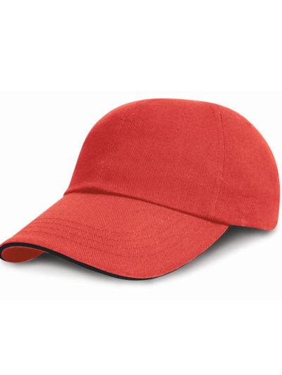 Low Profile Heavy Brushed Cotton Cap With Sandwich Peak