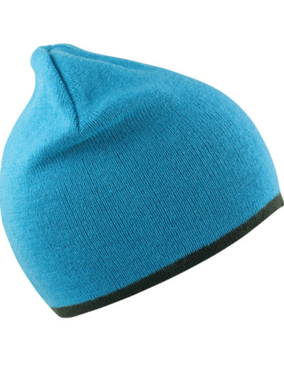 Result Winter Essentials Reversible Fashion Fit Hat Aqua and Grey