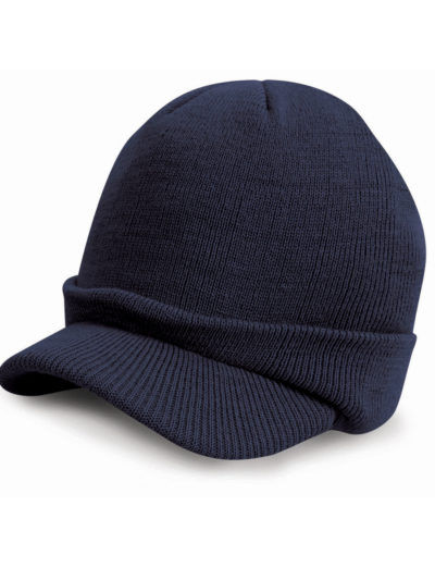 Result Winter Essentials Esco Army Knitted Hat Navy Blue