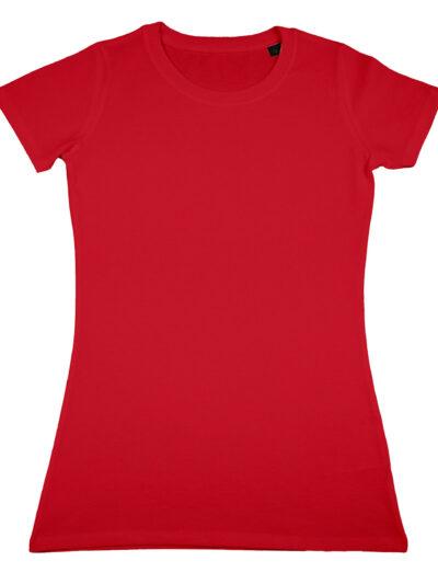 Nakedshirt Women's 'Ruth' Organic Fitted T-Shirt Red
