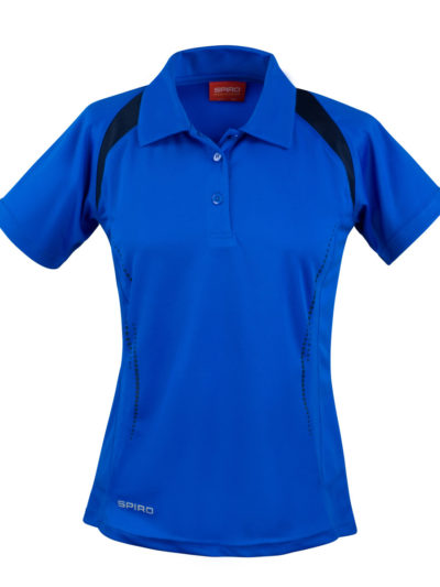 Spiro Ladies'  Team Spirit Polo Shirt Royal and Navy