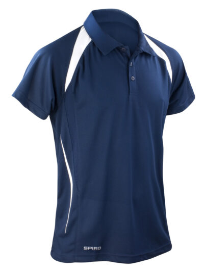 Spiro Men's Team Spirit Polo Shirt Navy and White