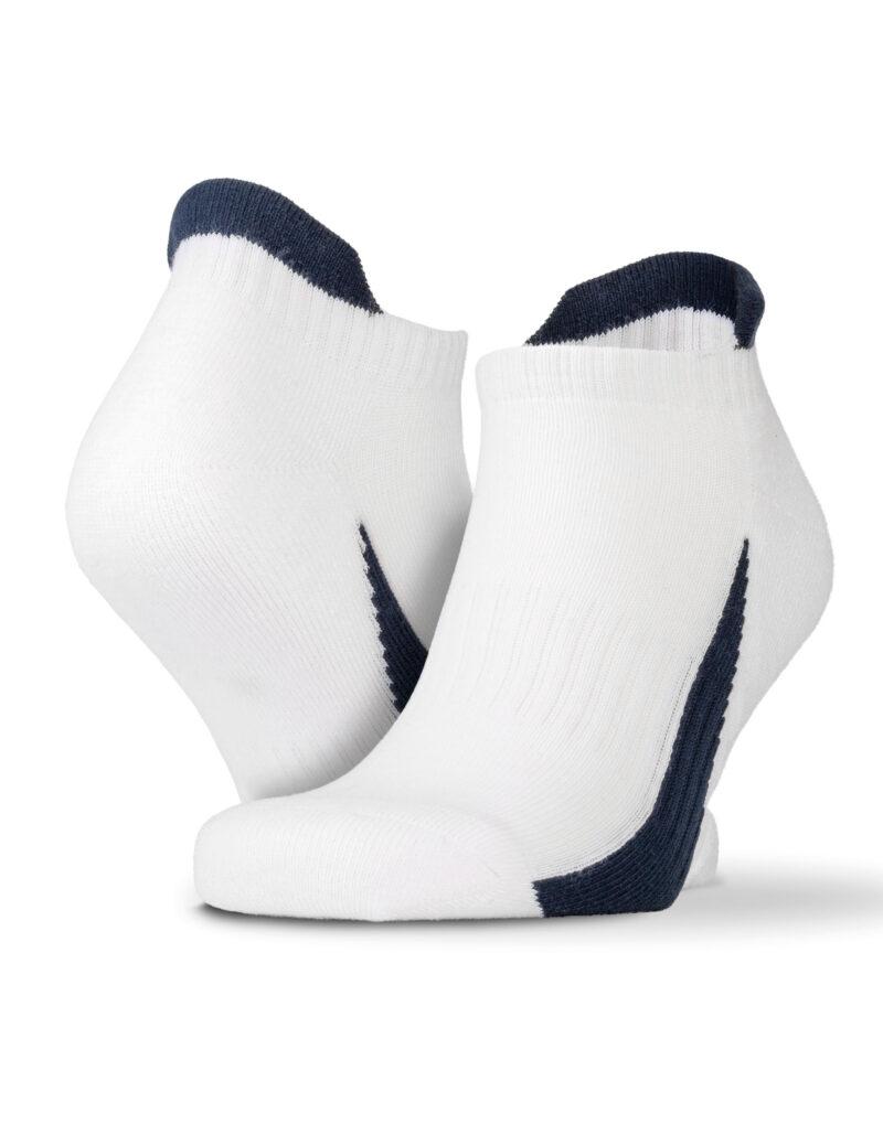 Spiro 3-Pack Mixed Sneaker Sport Socks White and Navy