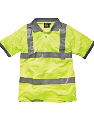 Dickies Hi-Vis Safety Polo Shirt Hi-Vis Yellow