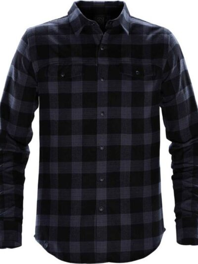 Stormtech Men's Logan Snap Front Shirt Navy Plaid