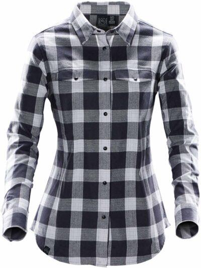 Stormtech Women's Snap Front Shirt Titanium Plaid