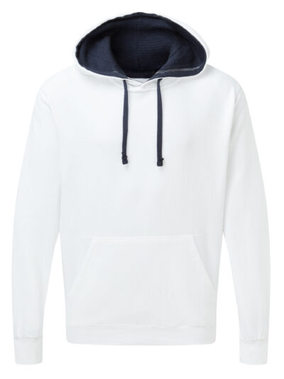 SG Men's Contrast Hoodie White and Navy