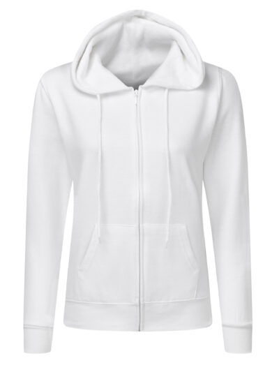 SG Ladies' Full Zip Hoodie White