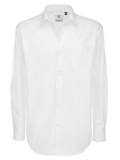 B&C Men's Sharp Long Sleeve Twill Shirt White