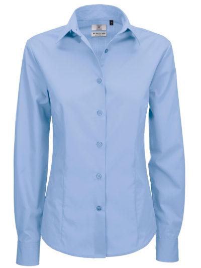 Ladies' Smart Long Sleeve Poplin Shirt