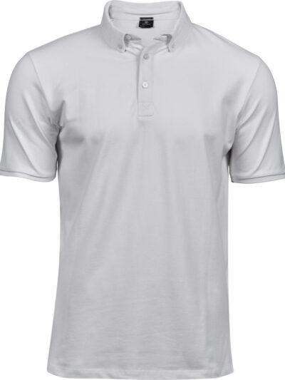 Tee Jays Men's Fashion Luxury Stretch Polo White
