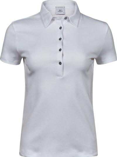 Tee Jays Ladies' Pima Cotton Polo White