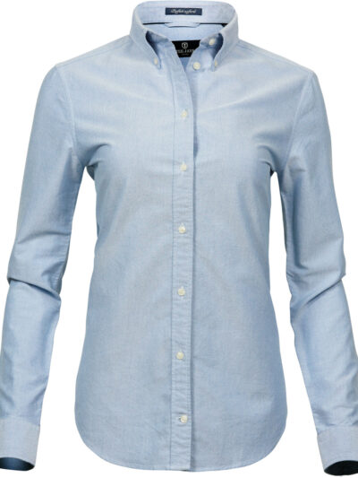 Tee Jays Ladies' Perfect Oxford Shirt Light Blue