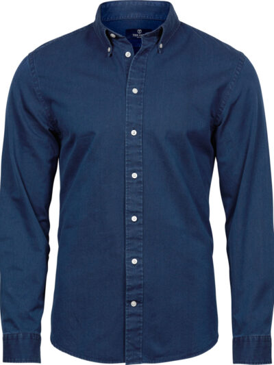 Tee Jays Men's Casual Twill Shirt Indigo