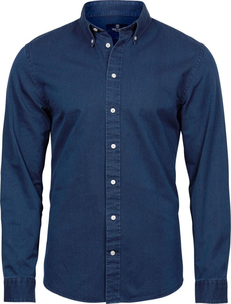 Tee Jays Men's Casual Twill Shirt Indigo