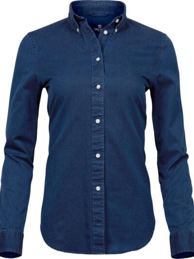 Tee Jays Ladies' Casual Twill Shirt Indigo