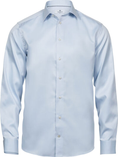 Tee Jays Men's Luxury Shirt Comfort Fit Light Blue