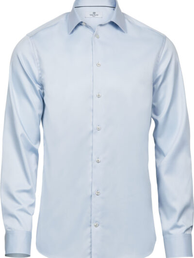 Tee Jays Men's Luxury Slim Fit Shirt Light Blue