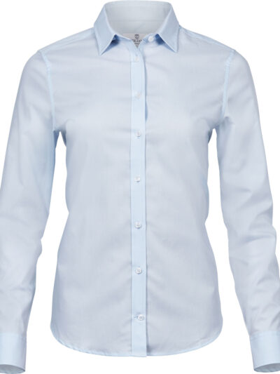 Tee Jays Ladies' Stretch Luxury Shirt Light Blue