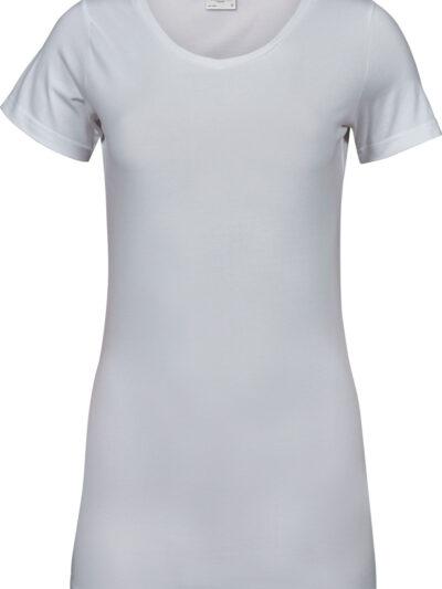 Tee Jays Ladies' Fashion Stretch Tee Extra Length White