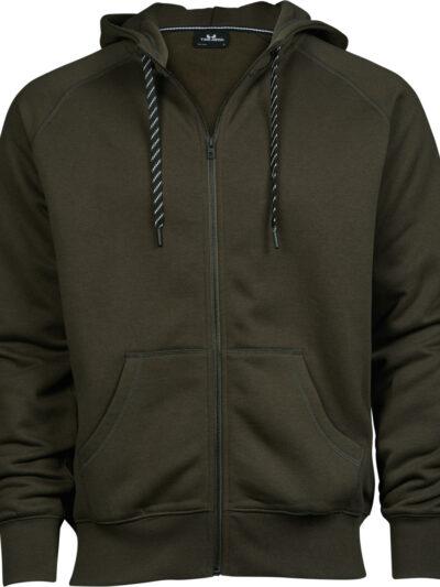 Tee Jays Men's Fashion Full Zip Hood Dark Olive