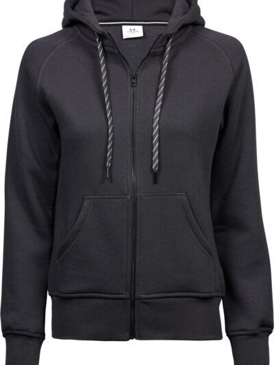 Tee Jays Ladies' Fashion Full Zip Hooded Sweat Dark Grey