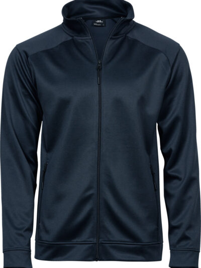 Tee Jays Men's Performance Zip Sweat Deep Navy