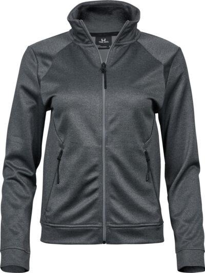 Tee Jays Ladies' Performance Zip Sweat Dark Grey Melange