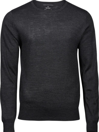 Tee Jays Men's Crew Neck Knitted Sweater Dark Grey