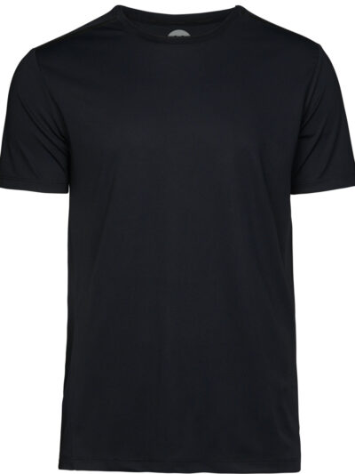 Tee Jays Men's Luxury Sport Tee Black