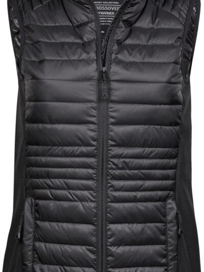 Tee Jays Ladies' Crossover Bodywarmer Black and Black
