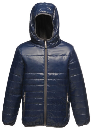 Regatta Junior Kid's Stormforce Thermal Hooded Jacket Navy Blue