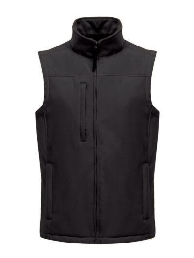 Regatta Flux Men's Softshell Bodywarmer Black and Black