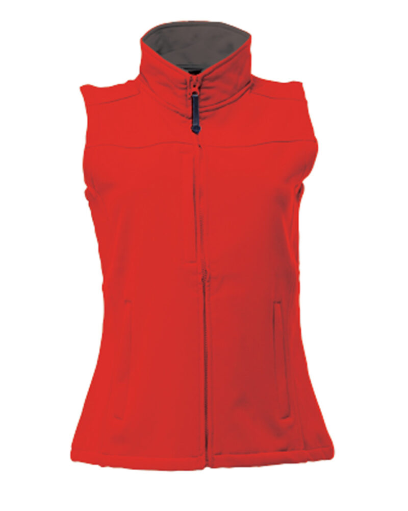 Regatta Flux Women's Softshell Bodywarmer Classic Red and Seal Grey