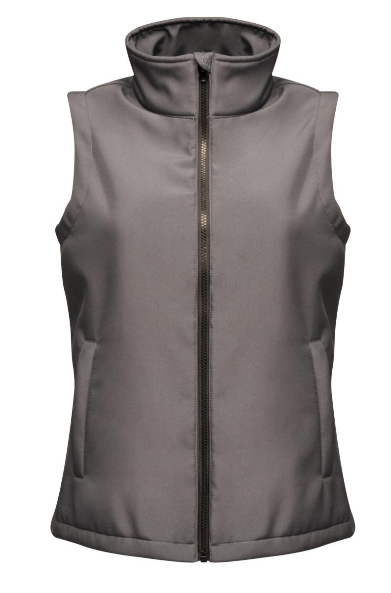 Regatta Ablaze Women's Printable Softshell Bodywarmer Seal Grey and Black