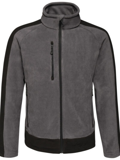 Regatta Contrast 300 Full Zip Fleece Seal Grey and Black