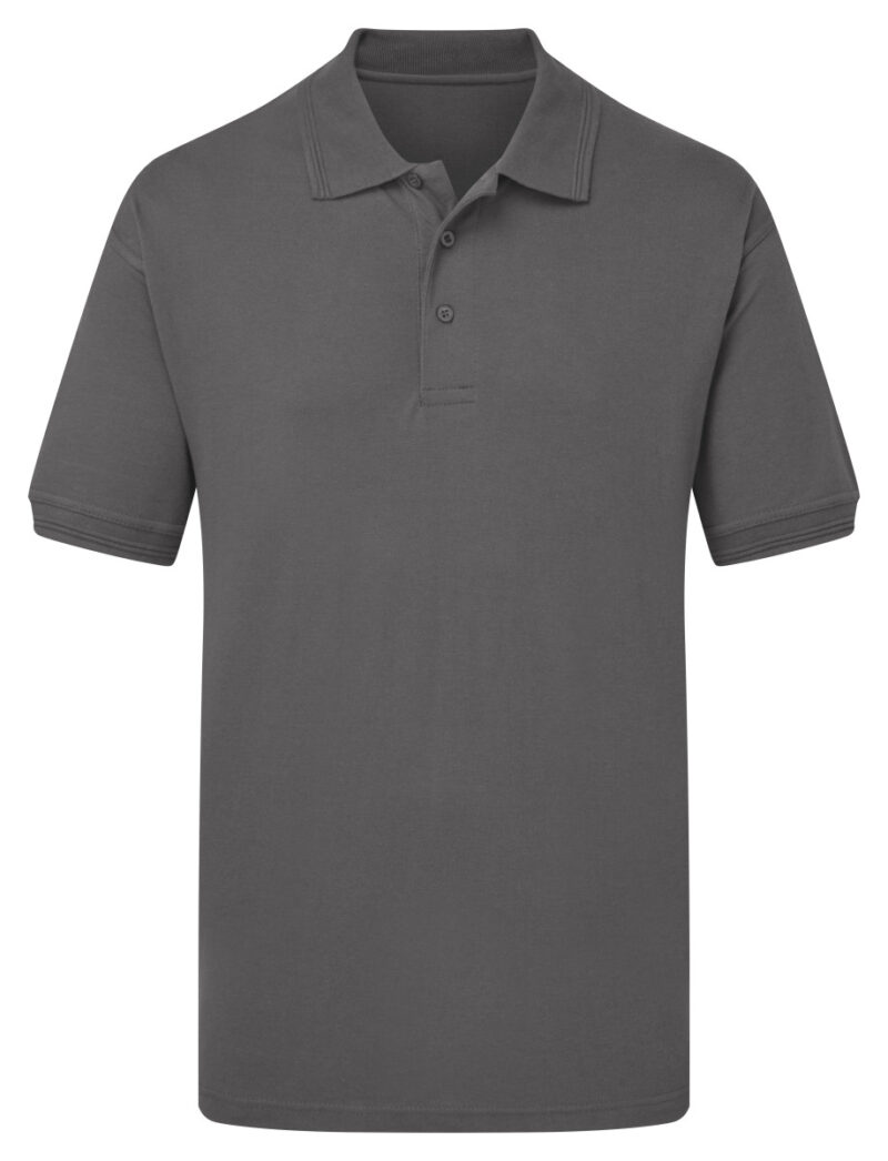 Ultimate Clothing Company 50/50 Heavyweight Piqué Polo Charcoal