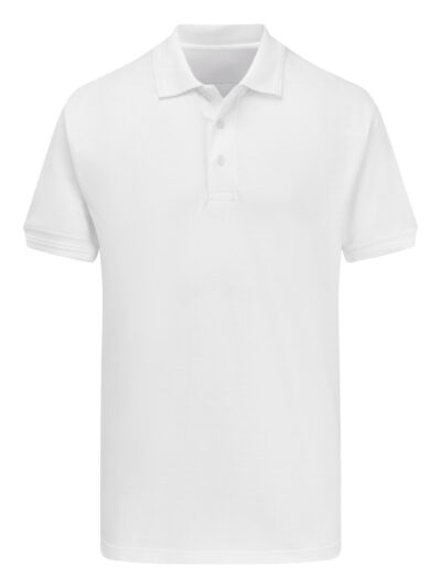 Ultimate Clothing Company Unisex 50/50 220gsm Pique Polo White