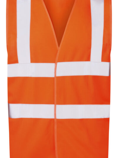 Ultimate Clothing Company 4-Band Safety Waistcoat Hi Vis Orange