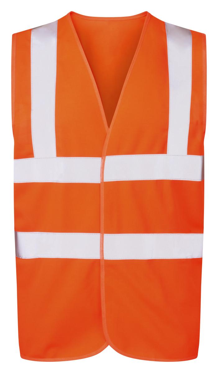 Ultimate Clothing Company 4-Band Safety Waistcoat Hi Vis Orange