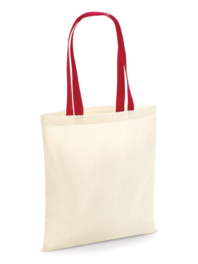Westford Mill Bag 4 Life - Contrast Handle Natural and classic Red
