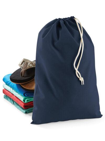 Westford Mill Cotton Stuff Bag Navy Blue