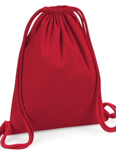 Westford Mill Organic Premium Cotton Gymsac Classic Red