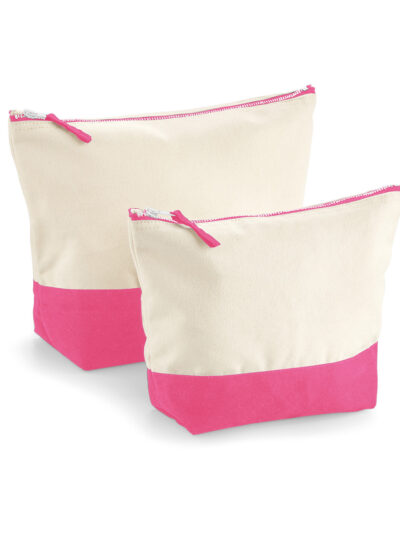 Westford Mill Dipped Base Canvas Accessory Bag Natural and True Pink