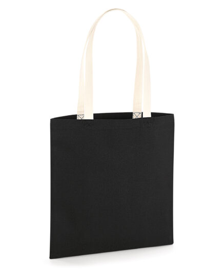 Westford Mill EarthAware® Organic Bag for Life - Contrast Handles Black and Natural