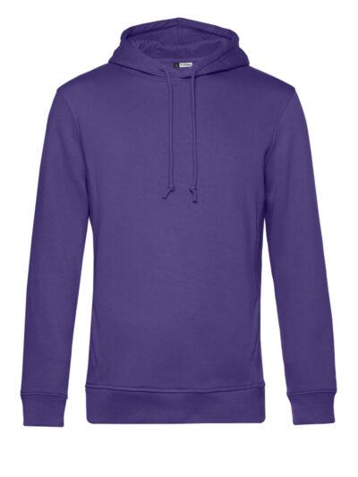 B&C Men's Organic Hooded Sweat Radiant Purple