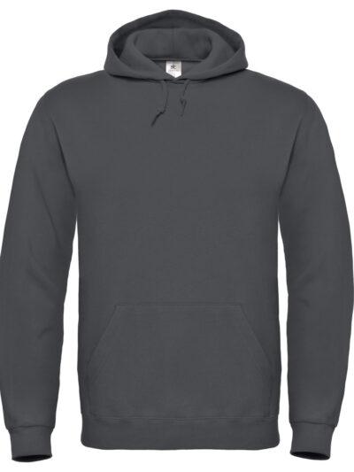 B&C ID.003 Cotton Rich Hooded Sweatshirt Anthracite