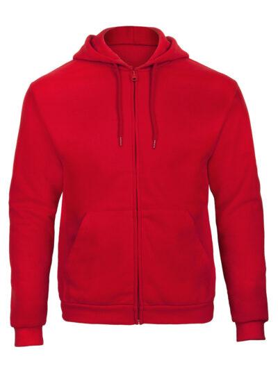 B&C Unisex ID.205 50/50 Hooded Full Zip Sweat Red