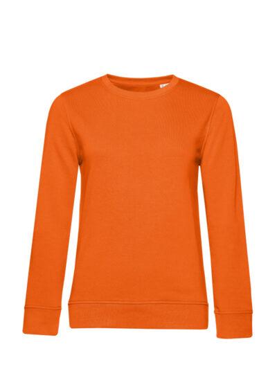 B&C Women's Organic Crew Neck Sweat Pure Orange